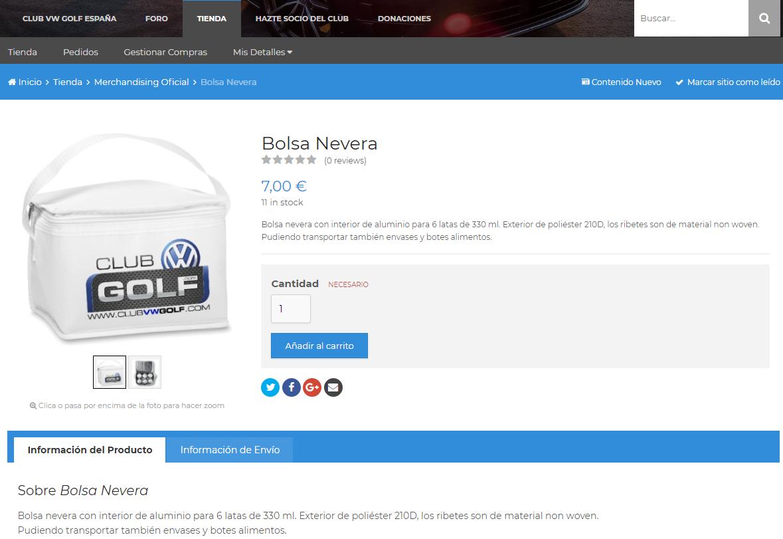 Nuevo Artículo Merchandising: Bolsa Nevera